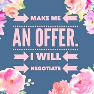 I'd love to negotiate with you!